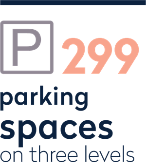 299 parking places